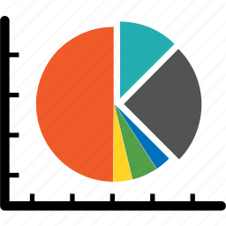analytics, bar, chart, cicle, colorful, diagram, graph icon