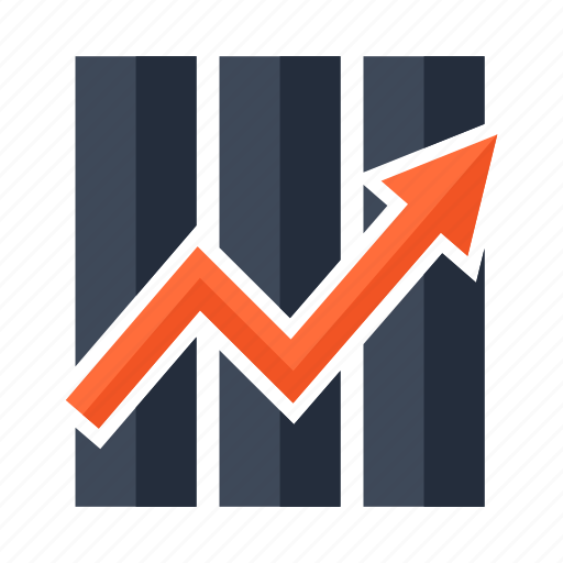 analytics, arrow, business, diagram, finance, graph, up icon