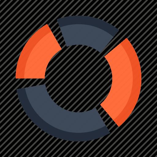 analytics, business, diagram, finance, graph, round, statistics icon