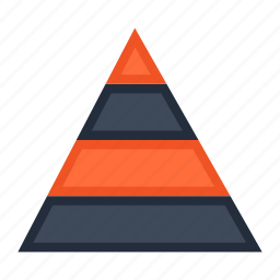analytics, business, diagram, finance, graph, pyramid, statistics icon