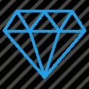 crystal, diamond, jewel, pear, ruby, stone icon
