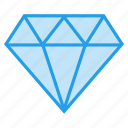 crystal, diamond, gem, jewel, pear, stone icon