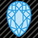 crystal, diamond, jewel, ring, ruby, stone icon