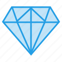 crystal, diamond, gem, ring, stone icon