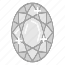 diamond, jewelry, ring, ruby icon