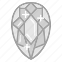 diamond, gem, jewel, jewelry, ring icon