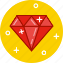 crystal, diamond, jewel, pear, ruby, stone icon