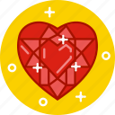 crystal, diamond, heart, heart diamond, ring, ruby icon