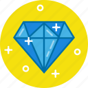 crystal, diamond, ring, ruby, stone icon