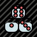 casino, dice, gambling, game, triple