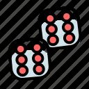 casino, dice, double, gambling, game