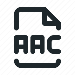 aac, audio, document, file, format, paper icon