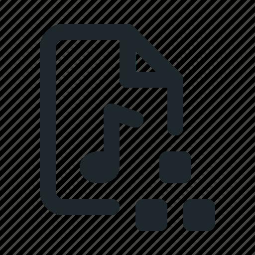 audio, document, file, format, organization, paper icon