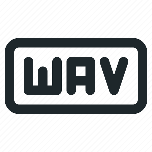 audio, document, file, format, wav icon