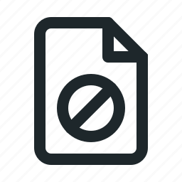 blocked, document, file, format, paper icon