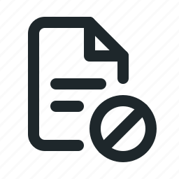 blocked, document, file, format, paper, text icon