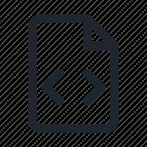 coding, file icon