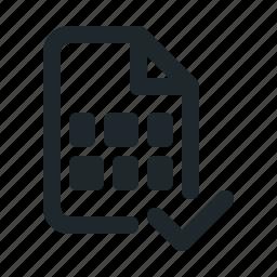 accept, coding, data, document, file, format, paper icon