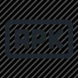 apk, coding, file icon