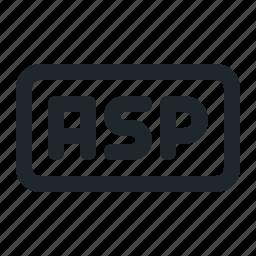 asp, coding, file icon