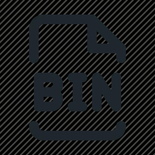 bin, coding, file icon