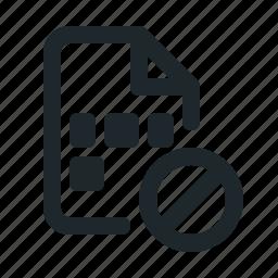 blocked, coding, file icon