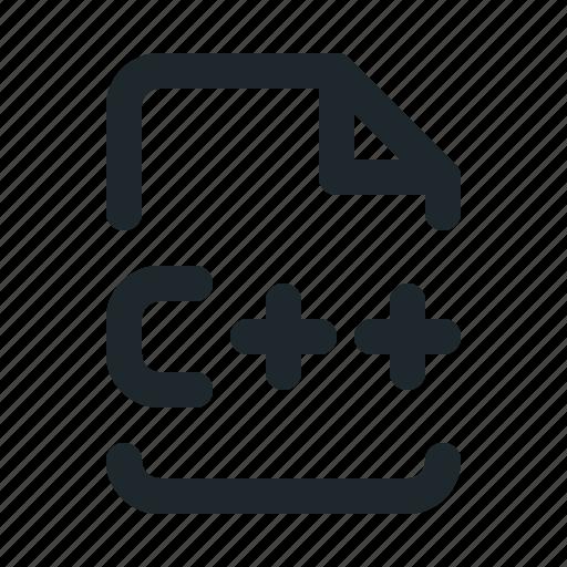 c++, coding, file icon