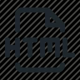 coding, file, html icon