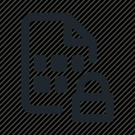 coding, file, locked icon