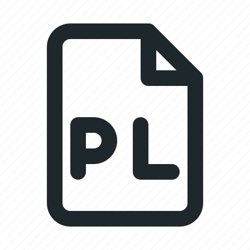 coding, file, pl icon