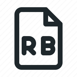 coding, file, rb icon