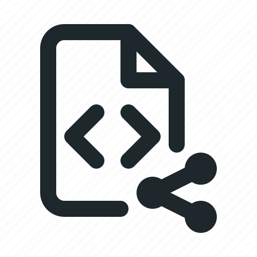 coding, file, share icon