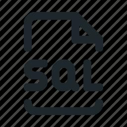 coding, file, sql icon
