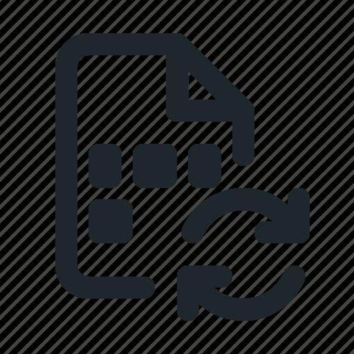 coding, file, sync icon