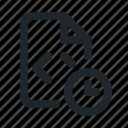 coding, file, time icon