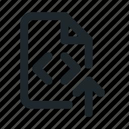 coding, file, upload icon