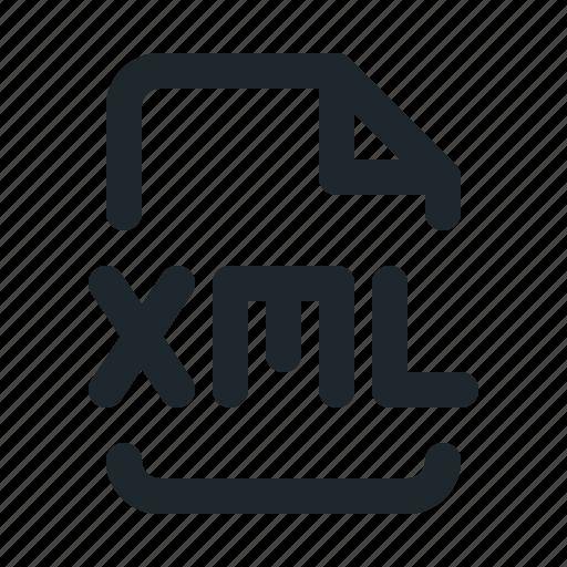 coding, file, xml icon