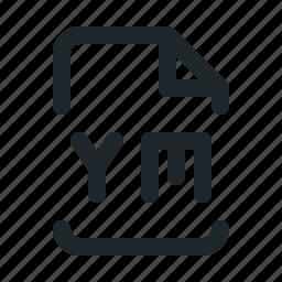 coding, file, ym icon