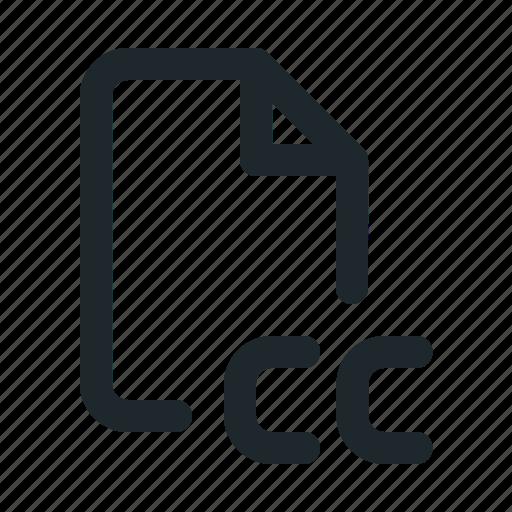 common, copyright, creative, file icon