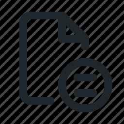 copyright, file, noderivs icon
