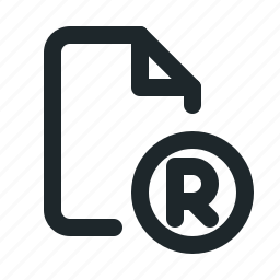copyright, file, registered icon