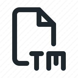 copyright, file, trademark icon