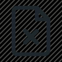 delete, file icon