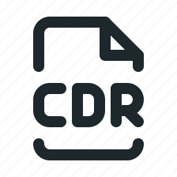 cdr, design, file icon