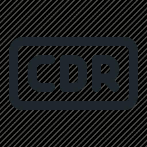 cdr, design, file icon