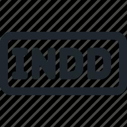 design, file, indd icon