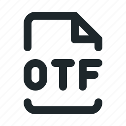 design, file, otf icon