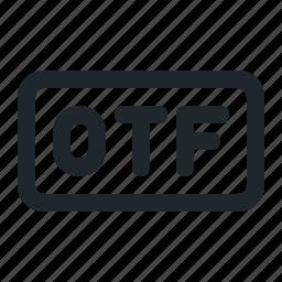 design, file, otf icon