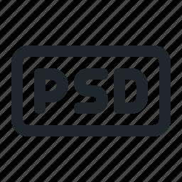 design, file, psd icon