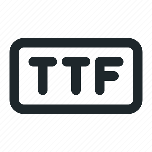design, file, ttf icon